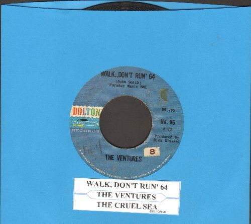 Ventures - Walk--Don't Run '64/The Cruel Sea (with juke box label) - VG7/ - 45 rpm Records