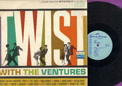 Ventures - Twist With The Ventures: Driving Guitars (Ventures' Twist), The twist, Road Runner, Moon Dawg, Guitar Twist, Let's Twist Again, Bumble Bee Twist (Vinyl STEREO LP record) - EX8/VG7 - LP Records