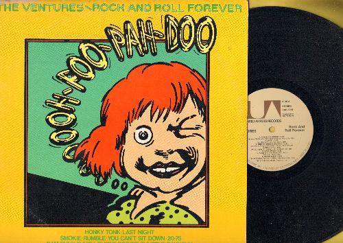 Ventures - Rock & Roll Forever: Sleep Walk, Soul Twist, Ram-Bunk-Shush, Honky Tonk (Parts 1 + 2), You Can't Sit Down (Vinyl STEREO LP record) - NM9/VG7 - LP Records