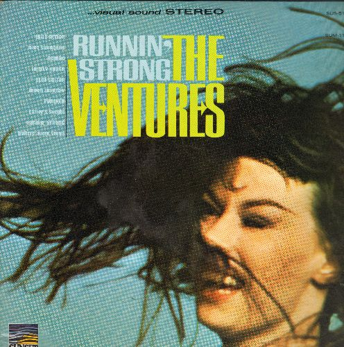 Ventures - Runnin' Strong: Wild Action, Dancin' With Steve, Lonely Karen, Blue Guitar, Bird Swingers (Vinyl STEREO LP record) - NM9/EX8 - LP Records