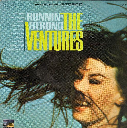 Ventures - Runnin' Strong: Wild Action, Dancin' With Steve, Lonely Karen, Blue Guitar, Bird Swingers (Vinyl STEREO LP record) - NM9/EX8 - LP Records