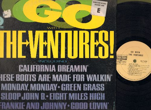 Ventures - Go With The Ventures: These Boots Are Made For Walkin', Monday Monday, Good Lovin', California Dreamin', Sloop John B (Vinyl MONO LP record, RARE DJ advance pressing!) - EX8/VG7 - LP Records