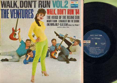 Ventures - Walk, Don't Run Vol. 2: The House Of The Rising Sun, Walk Don't Run '64, One Mint Julep, Diamond Head, The Creeper, Stranger On The Shore (Vinyl MONO LP record) - EX8/VG7 - LP Records