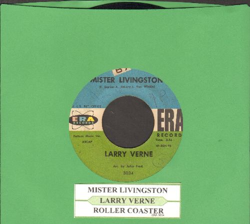Verne, Larry - Mister Livingston/Roller Coaster (with juke box label) - VG7/ - 45 rpm Records