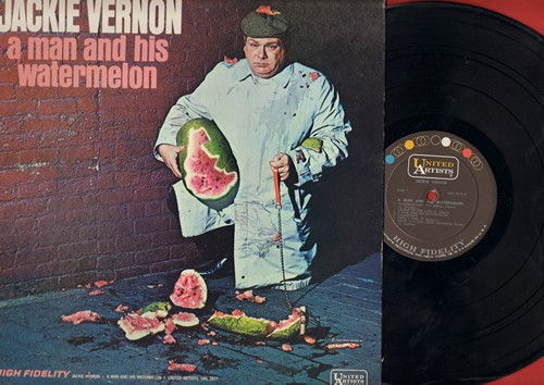 Vernon, Jackie - A Man And His Watermelon - Classic Comedy Routines (Vinyl MONO LP record, NICE condition!) - M10/NM9 - LP Records