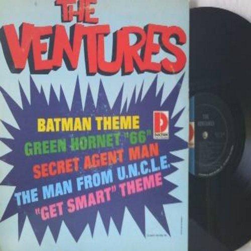 Ventures - The Ventures: Bat Man Theme, Green Hornet '66, Secret Agent Man, Get Smart Theme, Man From U.N.C.L.E. (Vinyl MONO LP record) - VG7/VG7 - LP Records