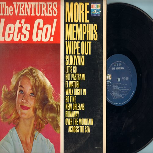 Ventures - Let's Go!: Wipe Out, Runaway, Sukiyaki, Wal Right In, More (Vinyl MONO LP record) - NM9/VG7 - LP Records