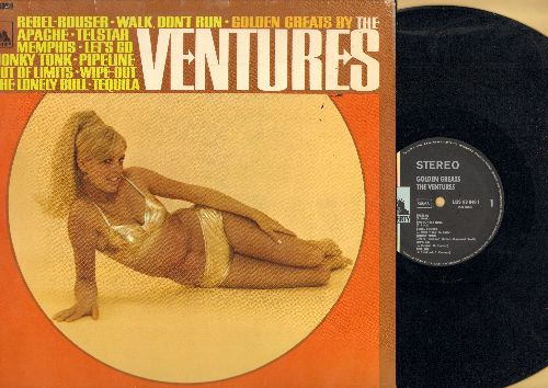 Ventures - Golden Greats: Walk-Don't Run, Apache, Telstar, Out Of Limits, Wipe Out, Tequila, Pipeline (Vinyl STEREO LP record, German Pressing) - NM9/VG7 - LP Records