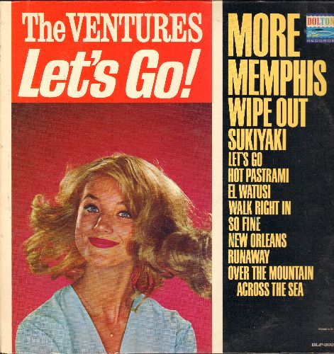 Ventures - Let's Go!: Wipe Out, Runaway, Sukiyaki, Wal Right In, More (Vinyl MONO LP record) - EX8/EX8 - LP Records