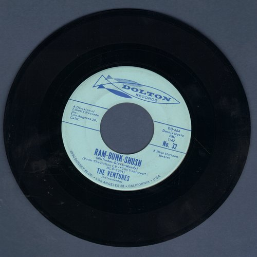 Ventures - Ram-Bunk-Shush/Lonely Heart (minor wol) - EX8/ - 45 rpm Records