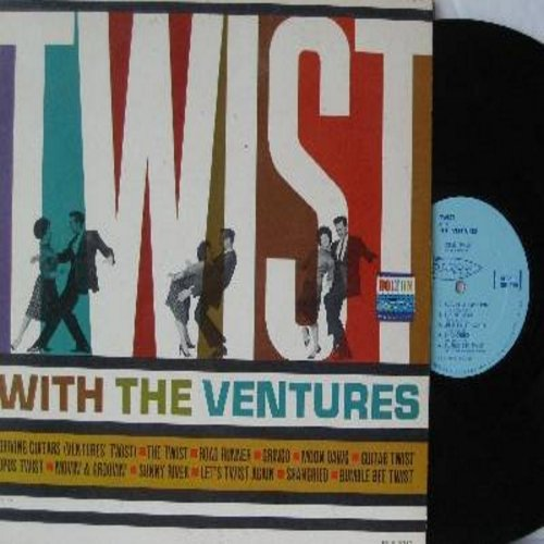 Ventures - Twist With The Ventures: Driving Guitars (Ventures' Twist), The twist, Road Runner, Moon Dawg, Guitar Twist, Let's Twist Again, Bumble Bee Twist (Vinyl MONO LP record) - NM9/EX8 - LP Records