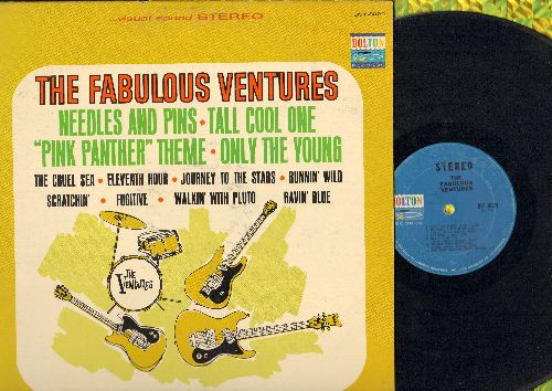 Ventures - The Fabulous Ventures: Needles And Pins, Pink Panther Theme, Runnin' Wild, Fugitive, Ravin' Blue, The Cruel Sea (Vinyl STEREO LP record) - VG7/VG7 - LP Records