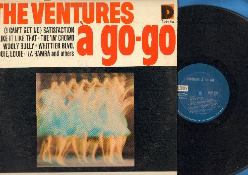 Ventures - A Go-Go: The In Crown, (I Can't Get No) Satisfaction, La Bamba, Louie Louie, Wooly Bully (Vinyl MONO LP record) - EX8/EX8 - LP Records