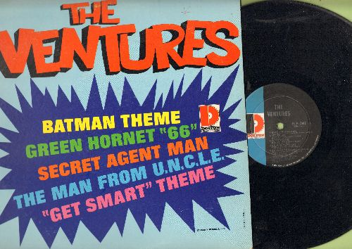 Ventures - The Ventures: Bat Man Theme, Green Hornet '66, Secret Agent Man, Get Smart Theme, Man From U.N.C.L.E. (Vinyl MONO LP record) - EX8/EX8 - LP Records