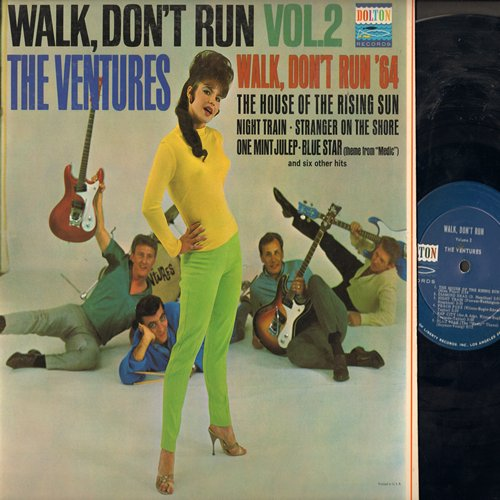 Ventures - Walk, Don't Run Vol. 2: The House Of The Rising Sun, Walk Don't Run '64, One Mint Julep, Diamond Head, The Creeper, Stranger On The Shore (Vinyl MONO LP record, NICE condition!) - EX8/EX8 - LP Records