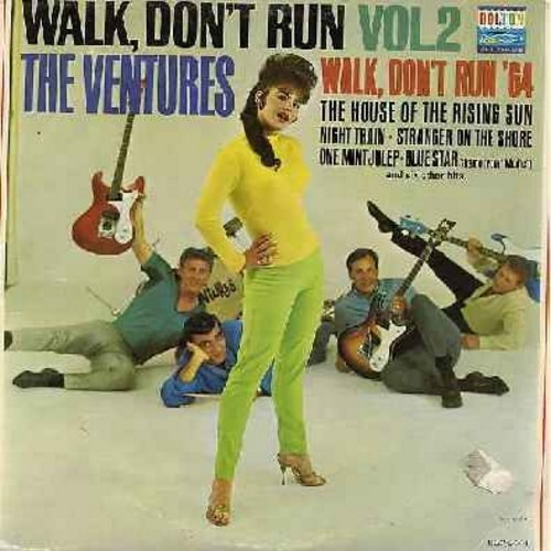 Ventures - Walk, Don't Run Vol. 2: The House Of The Rising Sun, Walk Don't Run '64, One Mint Julep, Diamond Head, The Creeper, Stranger On The Shore (Vinyl MONO LP record) - VG6/VG7 - LP Records