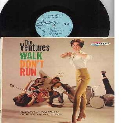 Ventures - Walk Don't Run: The McCoy, Honky Tonk, Raunchy, Sleep Walk, Morgen, Night Train, My Own True Love, Caravan (Vinyl MONO LP record, light blue label first issue) - EX8/VG7 - LP Records
