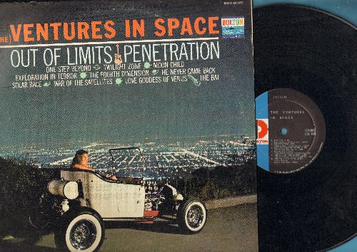 Ventures - The Ventures In Space: Out Of Limits, Penetration, One Step Beyond, Twilight Zone, The Bat (Vinyl STEREO LP record) - NM9/VG7 - LP Records