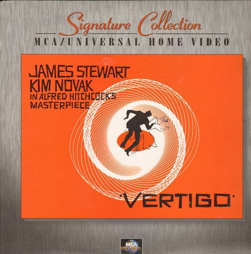 Vertigo - Vertigo - The Classic Hitchcock Thriller on 2 LASER DISCS (Starring James Stewart and Kim Novak) - NM9/EX8 - Laser Discs