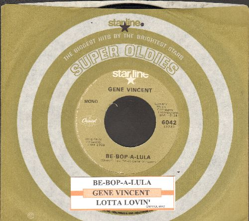 Vincent, Gene - Be-Bop-A-Lula/Lotta Lovin' (double-hit re-issue with company sleeve and juke box label) - NM9/ - 45 rpm Records