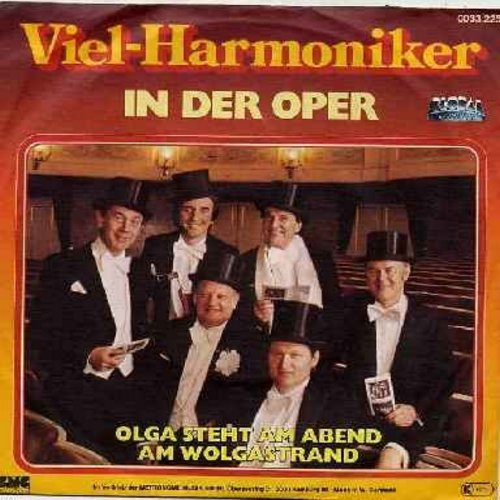 Viel-Harmoniker - In Der Oper (VERY NICE re-creation of the 1930s Comedian Harmonists Style!)/Olga steht am Abend am Wolgastrand (German Pressing with picture sleeve, sung in German) - NM9/EX8 - 45 rpm Records