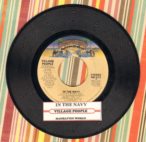 Village People - In The Navy/Manhattan Woman (with juke box label) - NM9/ - 45 rpm Records