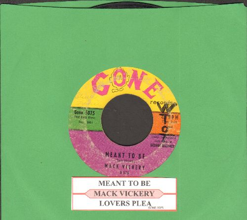 Vickery, Mack - Mean To Me/Lover's Plea (with juke box label)(wol) - VG7/ - 45 rpm Records