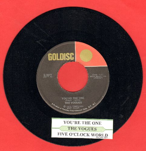 Vogues - You're The One/Five O'Clock World (double-hit re-issue with juke box label) - NM9/ - 45 rpm Records