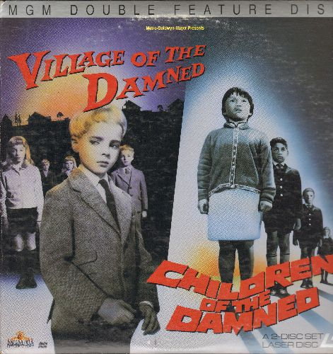 Village Of The Damned/Children Of The Damned - Village Of The Damned/Children Of The Damned - LASERDISC version of the Horror Cult-Classic Double-Feature. Gate-fold cover. (2 LASERDISCs) - NM9/EX8 - LaserDiscs