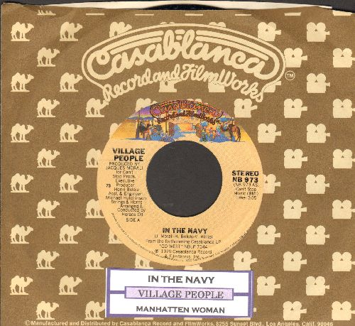 Village People - In The Navy/Manhattan Woman (with juke box label and Casablanca company sleeve) - NM9/ - 45 rpm Records