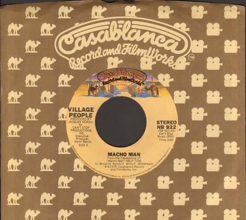 Village People - Macho Man (PARTY FAVORITE!)/Key West (with Casablanca company sleeve) - EX8/ - 45 rpm Records