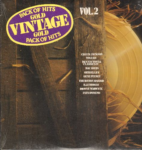 Jackson, Chuck, Shirelles, Gene Pitney, others - Vintage Gold Vol. 2: Any Day Now, Cryin', For All We Know, Foolish Little Girl (Vinyl LP record, re-issue of vintage recordings, SEALED, never opened!) - SEALED/SEALED - LP Records