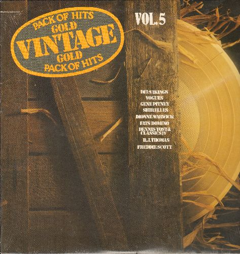 Shirelles, Del-Vikings, Fats Domino, others - Vintage Gold Vol. 5: Baby It's You, Blue Monday, Whispering Bells, Hooked On A Feeling (Vinyl LP record, re-issue of vintage recordings, SEALED, never opened!) - SEALED/SEALED - LP Records