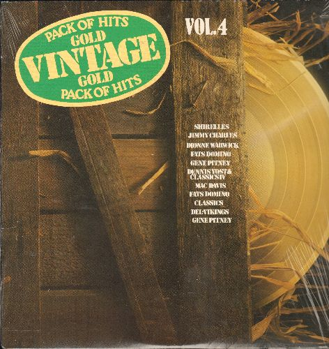 Shirelles, Gene Pitney, Fats Domino, others - Vintage Gold Vol. 4: Mama Said, A Million To One, Come Go With Me, Let It Be Me (Vinyl LP record, re-issue of vintage recordings, SEALED, never opened!) - SEALED/SEALED - LP Records