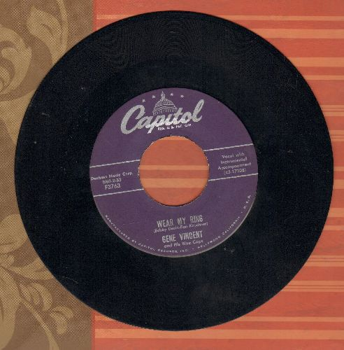 Vincent, Gene - Wear My Ring/Lotta Lovin' - EX8/ - 45 rpm Records
