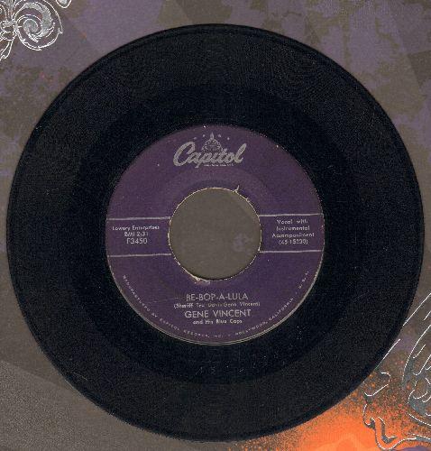 Vincent, Gene - Be-Bop-A-Lula/Woman Love (purple label first pressing) - G5/ - 45 rpm Records