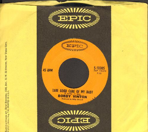 Vinton, Bobby - Long Lonely Nights/Satin (MINT condition with Epic company sleeve) - NM9/ - 45 rpm Records