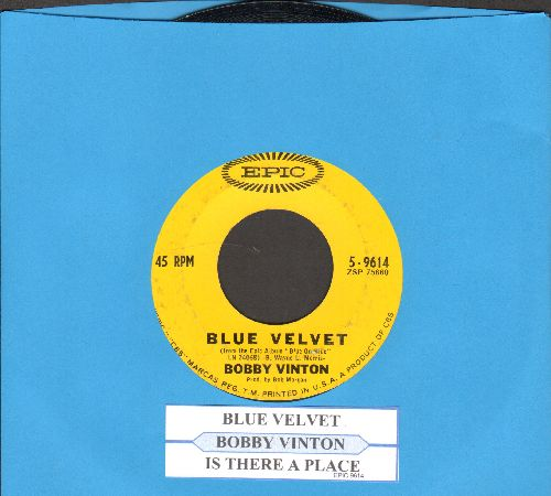 Vinton, Bobby - Blue Velvet/Is There A Place (with juke box label) - EX8/ - 45 rpm Records