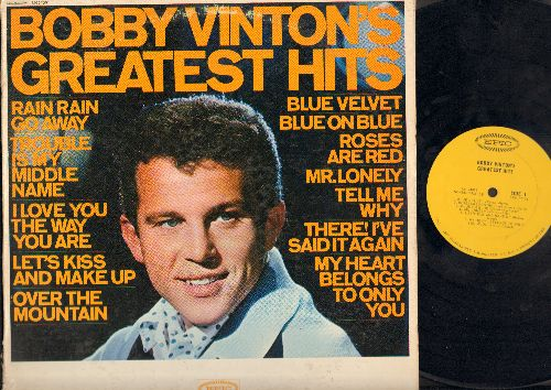 Vinton, Bobby - Greatest Hits: Blue Velvet, Blue On Blue, Mr. Lonely, Over The Mountain, Roses Are Red (Vinyl MONO LP record) - VG7/VG7 - LP Records