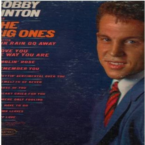 Vinton, Bobby - The Big Ones: Rain Rain Go Away, I Remember You, The Twelfth Of Never, He'll Have To Go, Autumn Leaves (Vinyl MONO LP record) - EX8/VG7 - LP Records