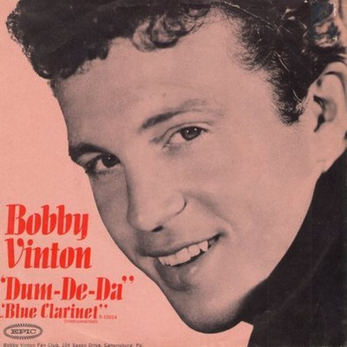 Vinton, Bobby - Dum-De-Da/Blue Clarinet (with picture sleeve) - NM9/EX8 - 45 rpm Records