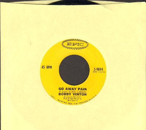 Vinton, Bobby - Go Away Pain/Tears - NM9/ - 45 rpm Records
