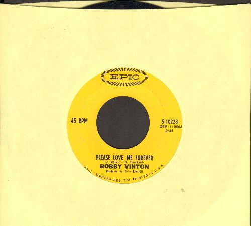 Vinton, Bobby - Please, Love Me Forever/Miss America  - G5/ - 45 rpm Records