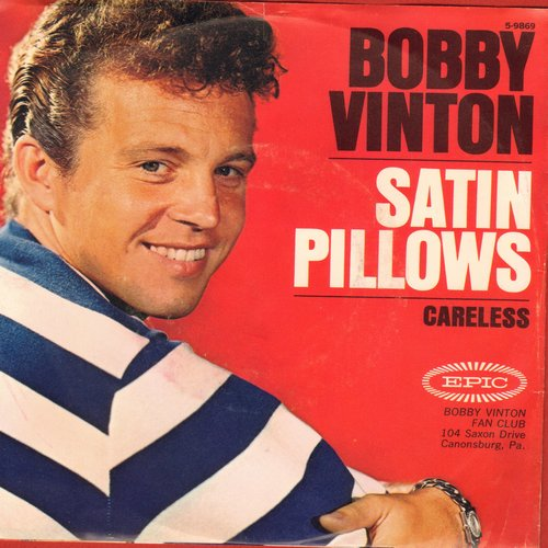 Vinton, Bobby - Satin Pillows/Careless (with picture sleeve) - EX8/EX8 - 45 rpm Records