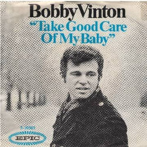 Vinton, Bobby - Take Good Care Of My Baby/Starnge Sensations (with picture sleeve) - NM9/VG7 - 45 rpm Records