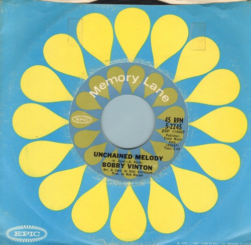 Vinton, Bobby - Unchained Melody/Trying (re-issue) - NM9/ - 45 rpm Records