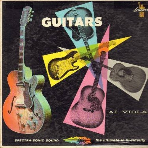 Viola, Al - Guitars: Blue Skies, Always, Route 66, Sophisticated Lady, When You're Smiling (Vinyl MONO LP record, DJ advance copy) - EX8/VG7 - LP Records
