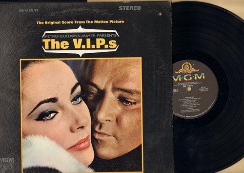 V.I.P.s, The - The V.I.P.s - Original Motion Picture Sound Track, music by Miklos Rozsa (Vinyl STEREO LP record, NICE condtion!) - M10/NM9 - LP Records