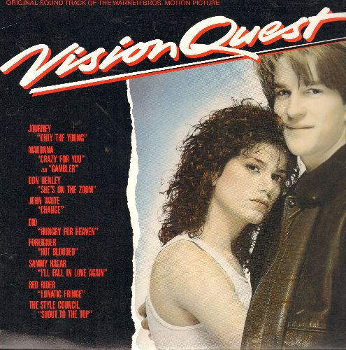 Vision Quest - Vision Quest - Original Motion Picture Soundtrack, includes hits Crazy For You (Madonna), Hot Blooded (Foreigner) and Only The Young (Journey) (vinyl STEREO LP record) - NM9/NM9 - LP Records