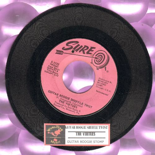 Virtues - Guitar Boogie Shuffle Twist/Guitar Boogie Stomp (with juke box label) (bb) - EX8/ - 45 rpm Records
